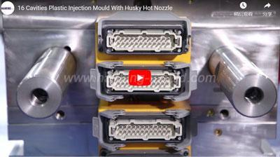 16 Cavities Plastic Injection Mould With Husky Hot Nozzle